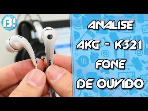 ANALISE - AKG K321 - FONE DE OUVIDO IN EAR!