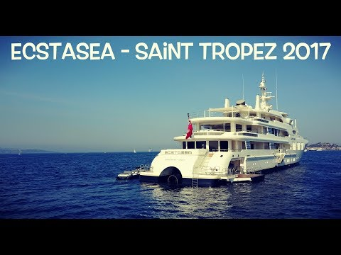 99 Million $ Yacht ECSTASEA in 4K - Saint Tropez 2017