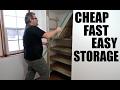 Super Cheap Super Easy Shelves For A Closet
