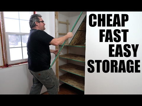 Super Cheap Super Easy Shelves For A Closet