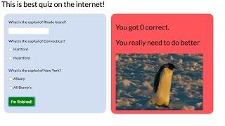 Javascript Tutorial: Make a quiz