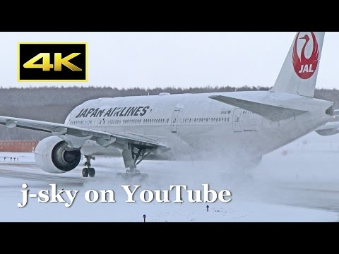 [4K] 30 Minutes Plane Spotting in Heavy Snow - New Chitose Airport [CTS/RJCC] / 雪の新千歳空港 JAL ANA