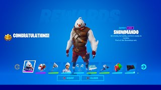 How to Unlock Snowmando Skin in Fortnite (All Operation Snowdown Challenges)