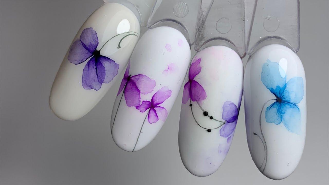АКВАРЕЛЬНЫЕ цветы. ТОП 24 года. САМЫЕ воздушные дизайны. Юлия Голубкова