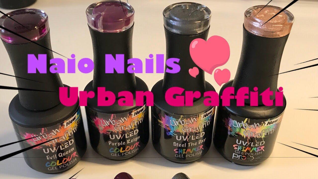 Naio Nails Urban Graffiti Gel Polishes Swatches Autumn Colours
