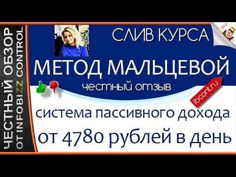 Метод Мальцевой - система пассивного дохода от 4780 рублей в день / ЧЕСТНЫЙ ОБЗОР / СЛИВ КУРСА
