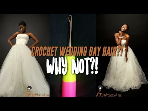 Wedding Day Crochet Braids - YouTube