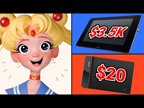 Can A $20 Graphics Tablet Compete With A $3,500 Wacom Cintiq?
