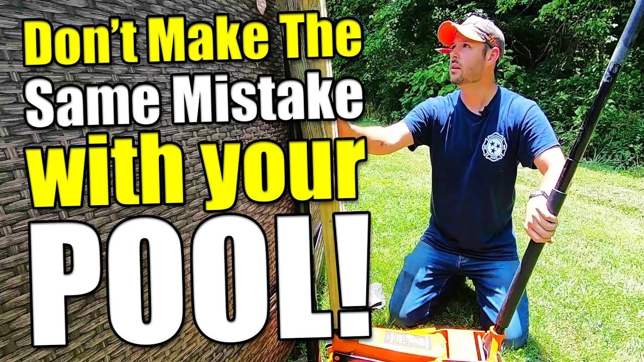 How to Fix an Unlevel Above Ground Pool