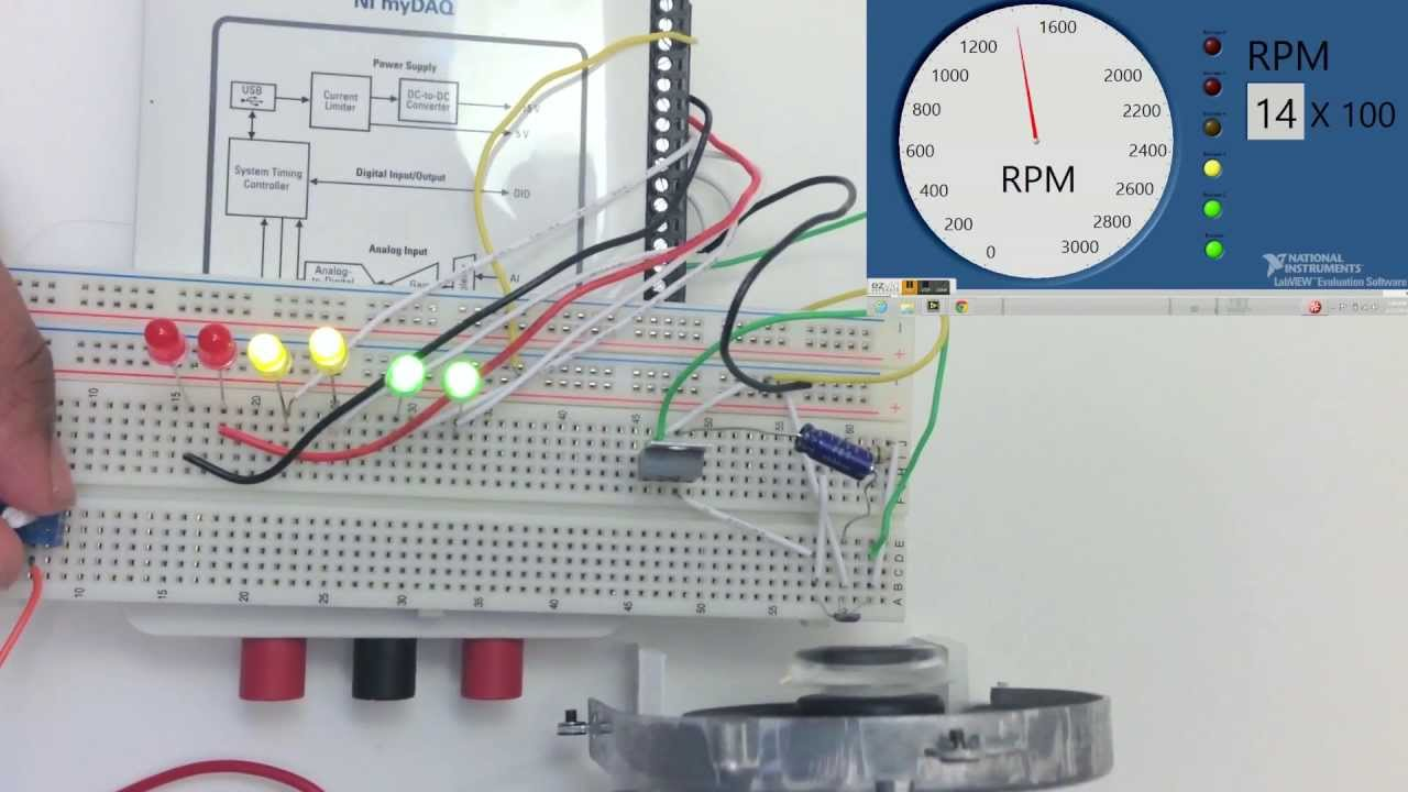AuE_835_Final Project_Tachometer using Hall Effect Sensor