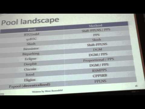 46. BITCOIN 2013 - Day 3 - Mining Pool Reward Methods, Part 2of3