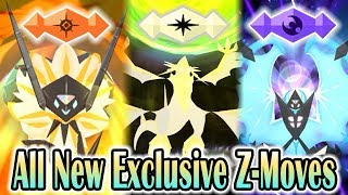 Pokemon Ultra Sun & Ultra Moon - All New Exclusive Z-Moves! (1080p HD)