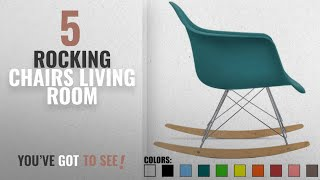 Top 10 Rocking Chairs Living Room [2018]: 2xhome - Teal - Eames Style Molded Modern Plastic Armchair