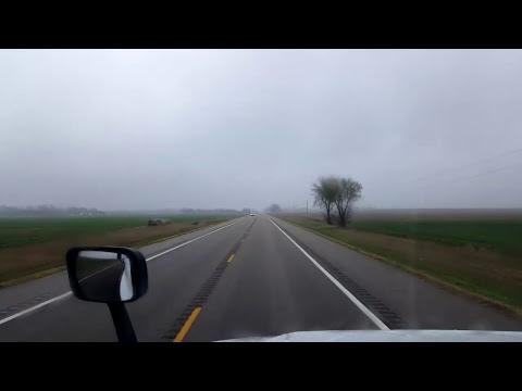 Bigrigtravels Live! - Dodge City to Stafford, Kansas - Highway 50 - April 2, 2017