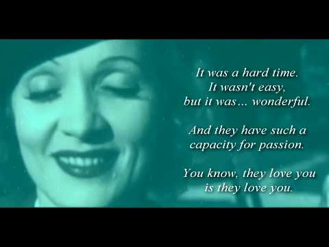Marlene Dietrich - FALLING IN LOVE AGAIN (lyric video) - Elektroboot