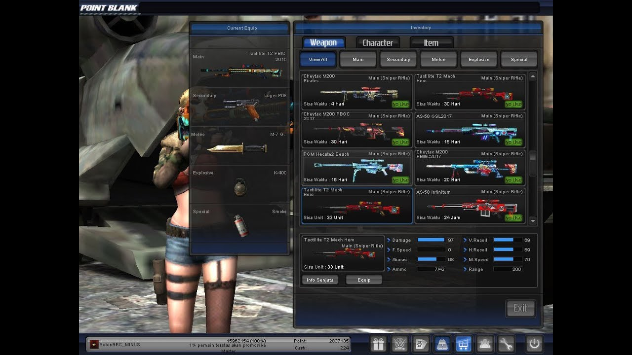 Garena Point Blank Indonesia - My Inventory PB Indonesia