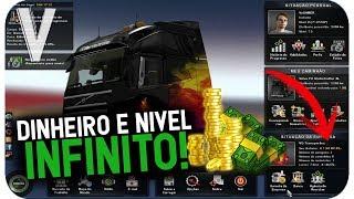 COMO TER DINHEIRO, NÍVEL E DISTÂNCIA PERCORRIDA INFINITOS NO EURO TRUCK SIMULATOR 2 2018!