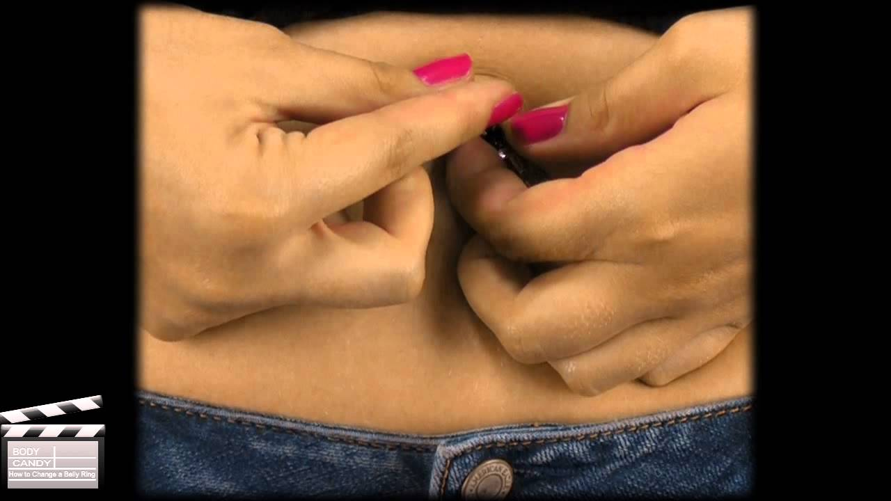 How To Change A Belly Button Ring Youtube