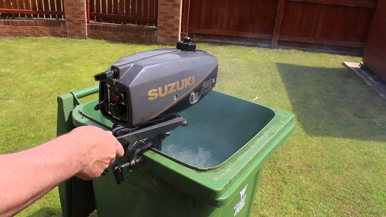 Suzuki 2hp outboard motor 2 stroke long shaft youtube Two stroke outboard motors