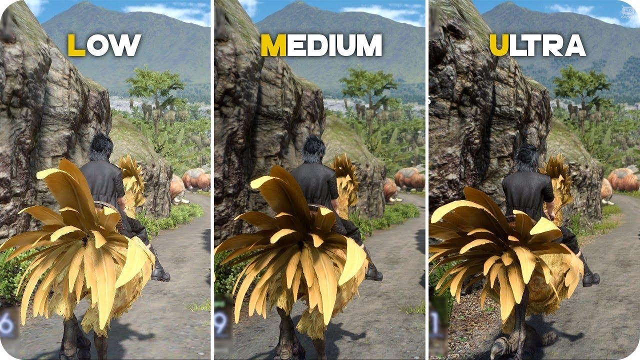 PC Graphics Comparison - FINAL FANTASY XV Benchmark - Low vs Ultra Settings
