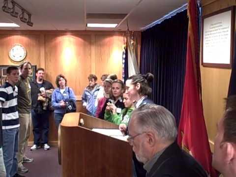 US MARINES swearing in April 19, 2010 Boston MEPS