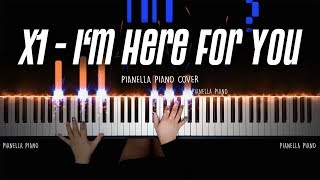 X1 (엑스원) - I'm Here For You (괜찮아요) [PIANO COVER by Pianella Piano] with Lyrics