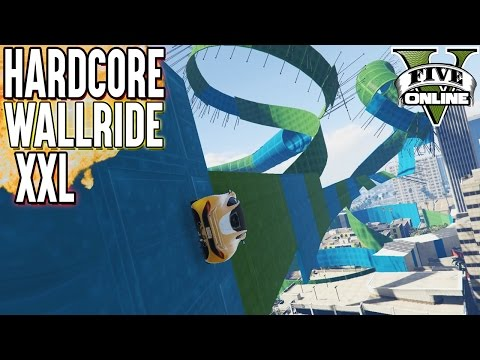 HARDCORE WALLRIDE (MEGA LANG - XXL) (+Download) | GTA 5 - Custom Map Rennen