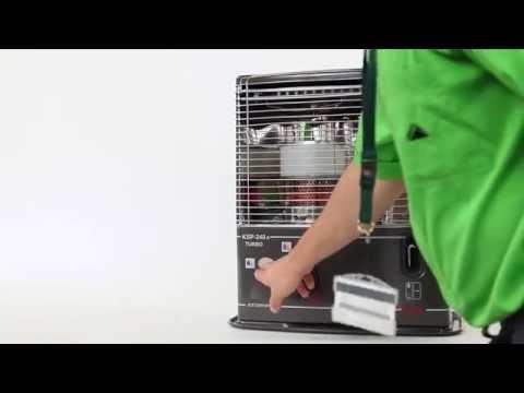 Puesta en marcha de una estufa de parafina (Leroy Merlin)