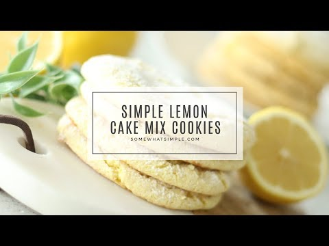 Simple Lemon Cake Mix Cookies
