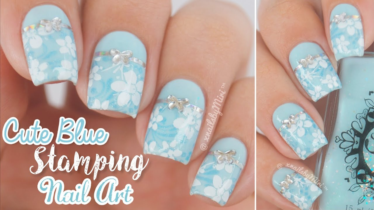 Blue Stamping Nail Art || using \'Pro collection XL - 10"|1280|720|?|en|2|6551e95af6eb7857984712e59c6ddb83|False|UNLIKELY|0.3242359161376953