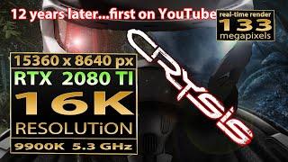 Crysis 16K gameplay | Crysis 16K gaming | Crysis 16K resolution | RTX 2080 TI | 16K