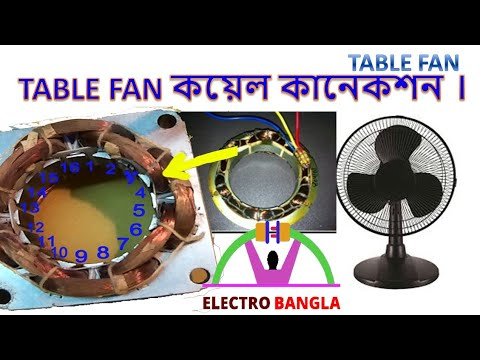 Table fan coil winding full diagram details in bangla. - YouTubeYouTube
