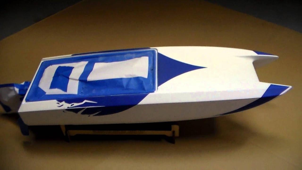 Blackjack RC Boat Custom PaintPart  YouTube - Custom vinyl decals for rc boats