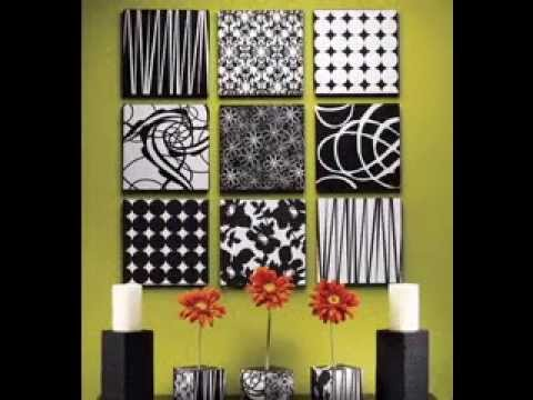 Easy DIY Ideas For Canvas Art Decorations   YouTube Part 25