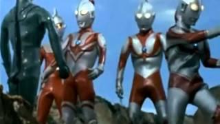 Ultraman - five bronze statues