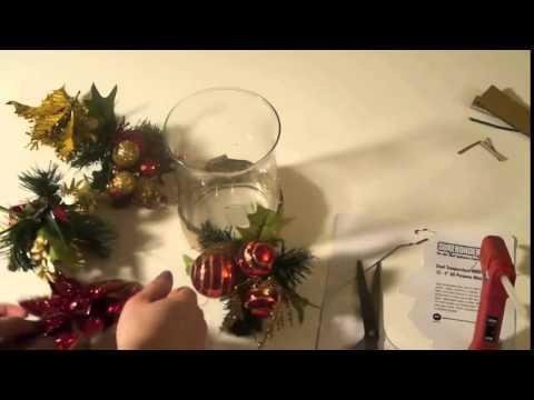 Como decorar una vela para el centro de tu mesa navide a for Velas para decorar mesas