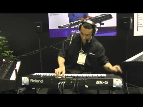 Roland BK-5 demo at Namm 2012 .wmv