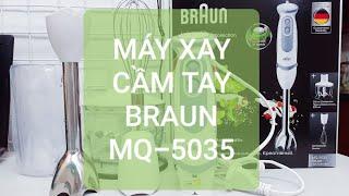 Máy xay sinh tố cầm tay Braun MQ-5035, động cơ 21 tốc độ - sức mạnh Đức