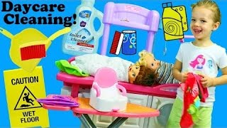 Baby Daycare Cleaning Pretend Play Feeding & Potty Training Baby Alive Nursery Iron Playset & Sweep