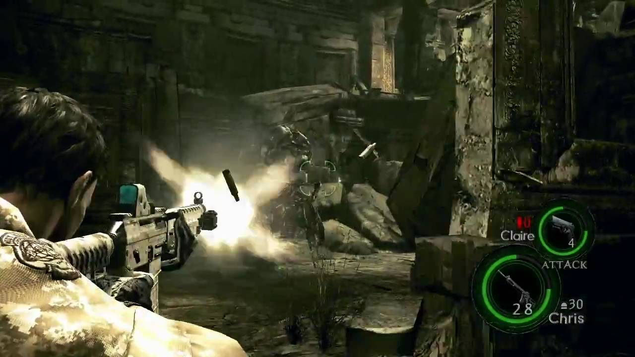 HD Resident Evil 5 : Digital Desert Camo Chris & SIG 556 ... Sig 556 Resident Evil 5