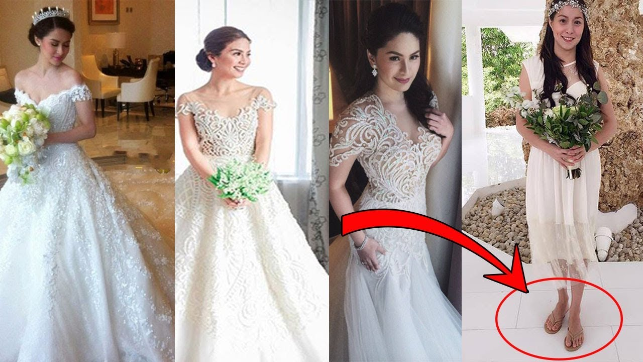 Mga Celebrity BRIDES na may KAKAIBANG Wedding Gowns - YouTube