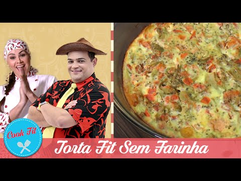 TORTA FIT SEM FARINHA | COOK FIT | Matheus Ceará E Dani Iafelix
