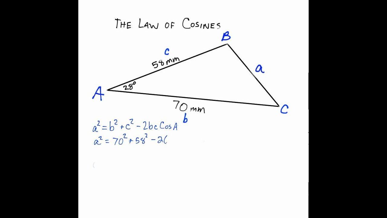 using the law of cosines (sas) to solve a triangle SAS Training