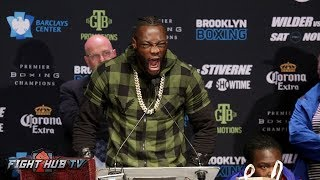 DEONTAY WILDER VS BERMANE STIVERNE 2 - FULL FINAL PRESS CONFERENCE & FACE OFF VIDEO