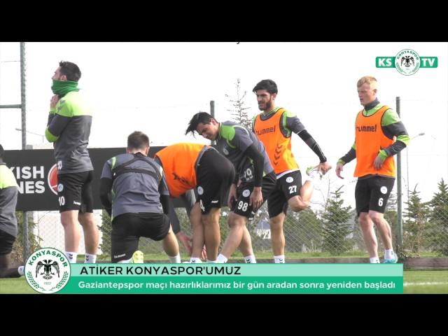 Atiker Konyaspor'umuz, bir gün aradan sonra Gaziantepspor maçı hazırlıklarına yeniden başladı