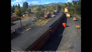 9/15/2018 Eight car train 215 arrives into Chama, NM