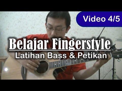 Belajar Gitar Fingerstyle - Latihan Petikan Bass & Melodi (4)