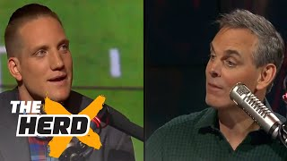 A.J. Hawk defends Aaron Rodgers' leadership to Colin Cowherd | THE HERD