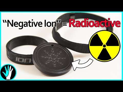 Negative Ion Products Are Actually RADIOACTIVE