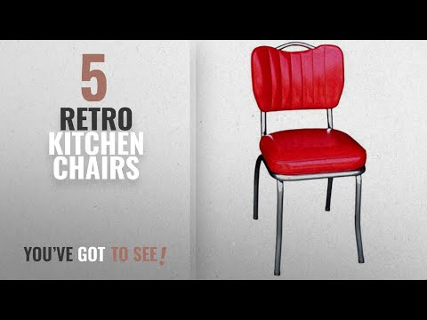 Top 10 Retro Kitchen Chairs [2018]: Richardson Seating 4260CIR Handle Back Retro Kitchen Chair in